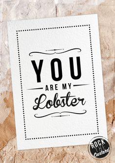 Lobster love.