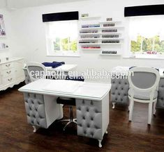 Modern nail salon furniture source beauty salon professional manicure table nail tables on where to buy modern nail salon furniture Modern Nail Salon, Home Nail Salon, Nail Salon Design, Nail Salon Decor, Salon Interior Design, Nail Salon Furniture, Beauty Room Salon, Nail Room, Nail Desk