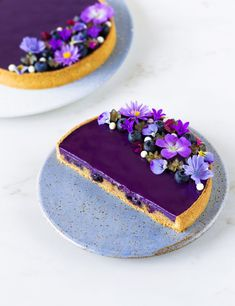 Recipe blueberry and chetnuts tarts. Gluten-free chestnuts shortcrust pastry, gluten-free chestnuts and blueberry financier, blueberry and vanilla ganache Natural Food Coloring, Shortcrust Pastry, Fancy Desserts, Sweet Tarts, Tray Bakes, Cake Decorating, Dessert Recipes, Food And Drink, Sweets