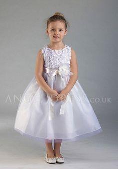 Lovely Ball Gown Tea Length Tulle Jewel Flower Girl Dress
