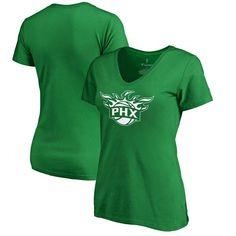 Phoenix Suns Fanatics Branded Women's St. Patrick's Day White Logo T-Shirt - Kelly Green - $27.99