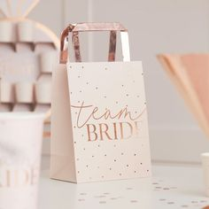 Celebrate in style with these Blush Hen Party gift bags. With a blush and rose gold design, these Blush Hen Party bags add glamour to hen party gift bags! Hen Do Party Bags, Hen Party Favours, Paper Party Bags, Hen Party Gifts, Party Gift Bags, Bridal Shower Favors, Hen Party Shop, Bridal Showers, Team Bride