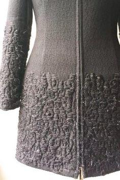 Timeless black French tweed jacket