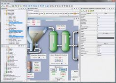 Available user interface components include standard form elements (e.g. text fields and buttons), tables, raster and vector images, highly customizable gauges, charts, splittable/tabbed/multi-layer panels, and many more. HMI applications created in GUI Builder can be launched separately, e.g. in touch panels.