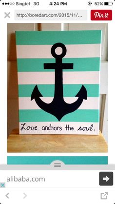Canvas art - anchor painting