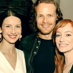 Lookin' good!! Love this pic from the #goldenglobes2016 party! #samheughan #lotteverbeek #caitrionabalfe #dianagabaldon #clairefraser #jammf #jamiefraser #outlander #outlanderstarz #outlanderseason2 #outlanderobsessed #droughtlander #floutlanderfans #floutlandergathering @nightmaril @nofoolingproductions