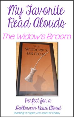 Halloween Read Aloud for Upper Elementary: The Widow's Broom. This post has lots of free printables and discussion questions to use with this engaging and thought provoking book.