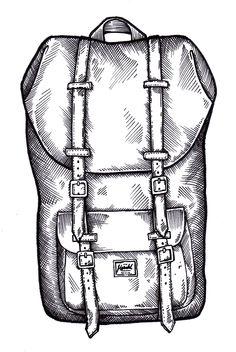Herschel!  #herschel #backpack #illustration