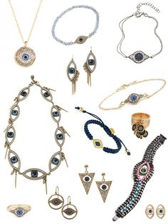 We've got our eye on this hot accessory trend for our next The perfect pairing with strong, beautiful Jewelry Art, Jewelry Accessories, Women Jewelry, Fashion Jewelry, Turkish Eye, Gypsy Witch, Jewelry Cabinet, Evil Eye Jewelry, Style Watch