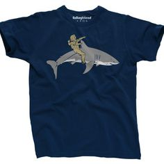 Riding Shark Tee Men's Navy, $21, now featured on Fab.