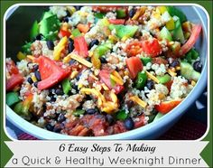 How to Make a Quick & Healthy Weeknight Dinner