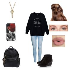 """""""Cold fall day look"""" by oliviaolmstead on Polyvore featuring H&M, Dsquared2, Case-Mate, Benefit, Sephora Collection and The Giving Keys"""