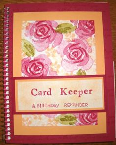 Charisma's Card Keeper by karixma - Cards and Paper Crafts at Splitcoaststampers Card Organizer, Organizers, Birthday Reminder, 3 D, Paper Crafts, Frame, Cards, Ideas, Picture Frame
