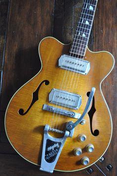 Vintage 1961 1962 1963 Kay Jazz II hollowbody guitar in Musical Instruments & Gear, Vintage Musical Instruments, Vintage Guitars, Electric | eBay