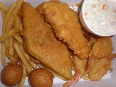 Estimated Cost: $3.00 Prep Time: 5 minutes Cooking Time: varies Yields: Enough batter to cover 8 chicken or fish fillets or approx. 20 shrimp Long John Silvers Chicken Planks (with their honey m...