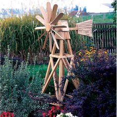 Amish Made Wood American Windmill