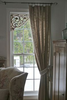 Chateau Chic: First Project of the New Year....very pretty and unique idea!! LOVE the curtains!!