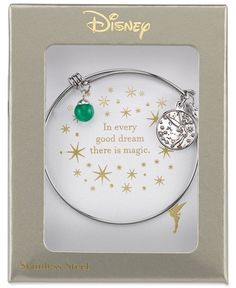 Disney Tinkerbell Dreaming of You Bangle Bracelet in Sterling Silver