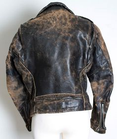 vintage leather jacket - back view