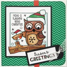 Woodware Clear Stamps - Tweeting Christmas