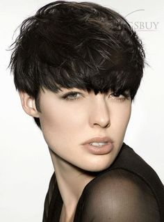 Saleable Stylish Unisex Short Loose Wavy Natural Wig with Bang 100% Human Hair Makes You More Charming! Brand New!: wigsbuy.com