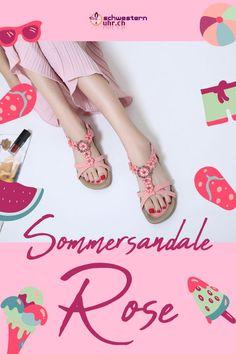 Sommersandale Rose mit dekorativen Perlen für Damen ☀💦  Sommerliche Sandale mit weichem Gel-Fussbett ohne Zehentrenner. Dank dem   elastischen Fersenband sehr angenehm auf der Haut zu tragen. Wie auf Wolken schweben!  Jetzt online bei schwesternuhr.ch bestellen - Ohne Versandkosten! Schweizer Unternehmen.  #schwesternuhrch #schwesternuhr #schwesternschuhe #sandalen #sommersandalen #sommer Stuart Weitzman, Sandals, Heels, Fashion, Beautiful Sandals, Comfortable Sandals, Comfortable Shoes, Hiking Supplies, News