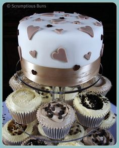 Mocha Wedding Cake by Scrumptious Buns (Samantha), via Flickr