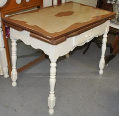 Gorgeous Enamel Top Table http://www.phantasticphinds.com