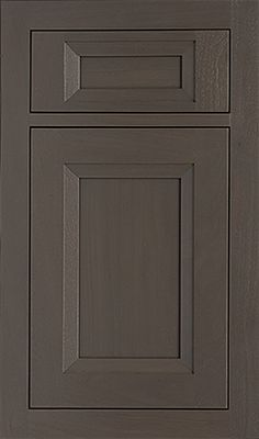 Tiffany Recessed door style by #WoodMode, shown in Storm Cloud finish on walnut.