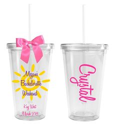 Beach-Themed Bachelorette Party Tumblers @Kate Mazur Harbaugh 6 for 60.00