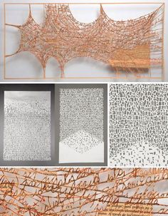 Pablo Lehmann's incredible paper creations consist of layered sheets of paper, hand-cut with text and abstract shapes and stacked for a three-dimensional effect. The Buenos Aires, Argentina-based artist has shown his work at galleries in South America.: