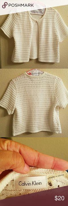 Calvin Jlein White Cardigan Never Worn Calvin Klein Sweaters Cardigans