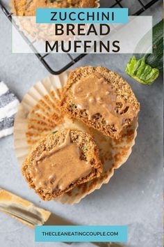 A Zucchini Muffins Recipe that is easy to make and yummy! Gluten free, moist and fluffy - these are perfect zucchini bread muffins! Made with no sugar, these clean eating muffins are absolutely delicious and perfect if you add some chocolate!