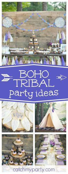Take a look at this wonderful Tribal Bohemian Birthday Party. The feather cookies are so cool!! See more party ideas and share yours at CatchMyParty.com
