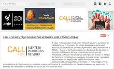 Call for Alentejo Incubators Network - apply until 25 FEV 2017   O projeto de intervenção MOOVE  Alentejo Incubators Network desenvolvido em parceria entre a ANJE  Associação Nacional de Jovens Empresários a ADRAL  Agência de Desenvolvimento Regional do Alentejo o Instituto Politécnico de Beja o Instituto Politécnico de Portalegre o Núcleo Empresarial da Região de Évora e o Parque de Ciência e Tecnologia do Alentejo é cofinanciado pelo Portugal 2020 no âmbito do Alentejo 2020 através do…