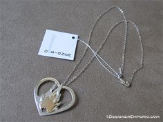 Sterling silver and copper 'Flaming Heart' by DesignerEmporio, $130.00