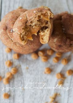 big red clifford: brown butter salted caramel snickerdoodles