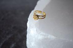 Gold Druzy Ring — Boutique La Lune