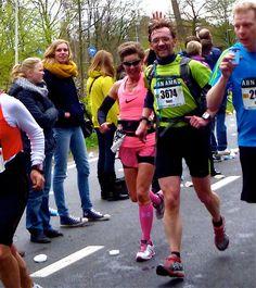 Als Petra's Personal Pacer tijdens de Rotterdam marathon