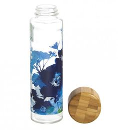 Reuseit reusable glass #waterbottle with wooden lid, leak free. Looks nice, and is cheap too!