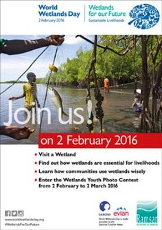 February 2 - World Wetlands Day World Wetlands Day, Curriculum Planning, Photo Contest, Sustainability, February, Youth, Community, How To Plan, Learning
