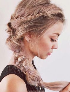 How to DIY this Fishtail Braided Ponytail // Image: The Beauty Department