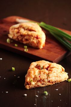 roasted pepper, feta, and green onion savory scones