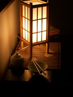 Japanese Window Pane Lamp (Natural) - love these!
