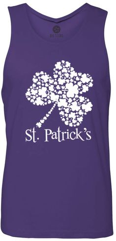 St. Patricks Day Clover (White) Tank-Top T-Shirt