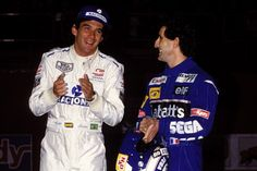 Ayrton with Alain Prost(Bercy,France)