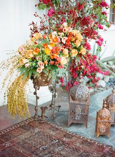 A beautiful Palm Springs wedding infused with Moroccan and mediterranean style, shot by Aaron Delesie in the Summer issue of Reverie Magazine - www.reveriemag.com