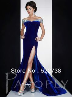 Free shipping cap sleeves backless royal blue mermaid evening dresses women 2014 sexy evening gown long formal evening dress