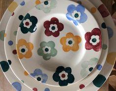 Emma Bridgewater Pottery, Petra, Flower Power, Tea Party, Bowls, Archive, Plates, Ceramics, Tableware
