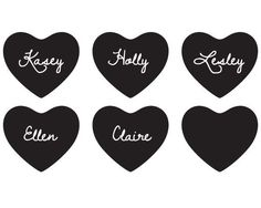Chalk Heart Stickers (Set of 12). Ourchalk board heart labels are great additions to any celebration - from weddings to showers and parties, and everyday organizing too. These cute chalk board labels are adorable on party-ware, such as cups, jars, and favors. You can also use them as pantry labels to organize your kitchen. Stick one on a wrapped present and you have a gift tag that you can personalize with a chalk pen! At Jubilee Favors, we believe it's the little touches that...
